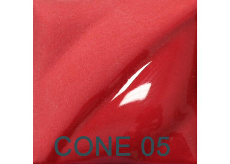 Bright Red 2oz jar velvet underglaze