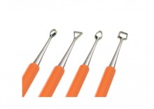 Carving Tool Set: pk/4 double ended carving & detailing tools, s/steel