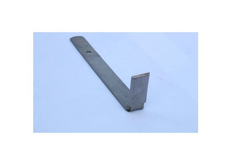 Rectangle: Flat steel handle with right angle end - large