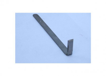 Rectangle: Flat steel handle with right angle end - small