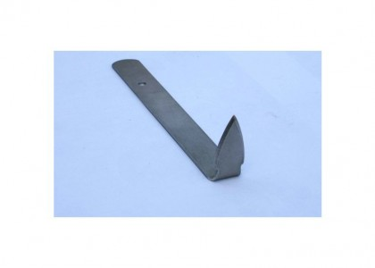 Curve Triangle: Flat steel handle with right angle end - large