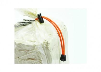 Clay Bags Ties: Reusable (green)