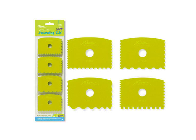 Decorating Ribs Set of 4: Soft flex, set C