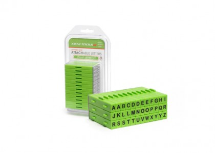 Letter Stamps: Attachable, set of 36 pcs, upper case