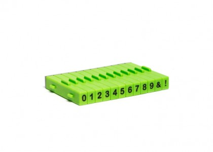Number Stamps: Attachable, set of 12