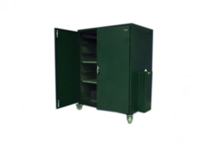 Drying cabinet on castors: 2000h s 915w x 635d (mm)