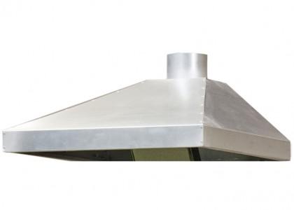 Ventilation canopy galvanised steel 1070x820x260(>80)mm