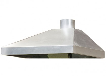 Ventilation canopy in stainless steel 1200x1000x260(>80)mm