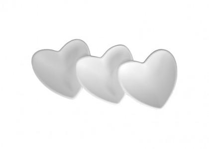 Three Heart Dish: 4/cs: 12.5x8.5x2