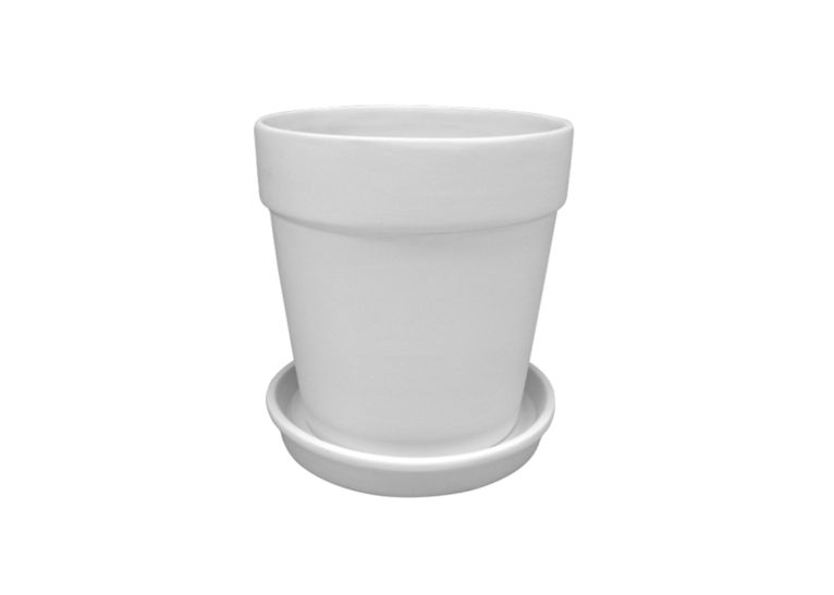 Lg.Flower Pot W/Tray: 1/cs: 7dia.x7.25
