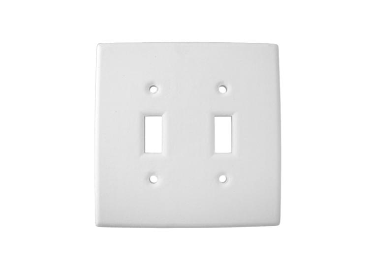 Double Switch Plate: 12/cs: 5x5