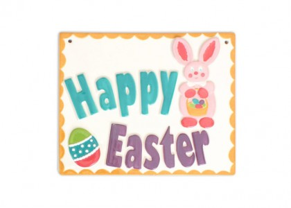 Easter Plaque: 6/cs: 7.75x6.25