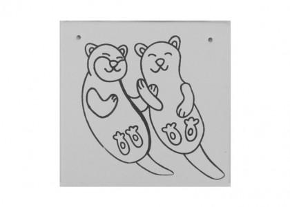 Otter Love Plaque