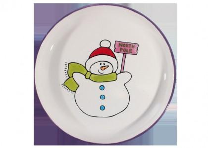 Snowman Party Plate
