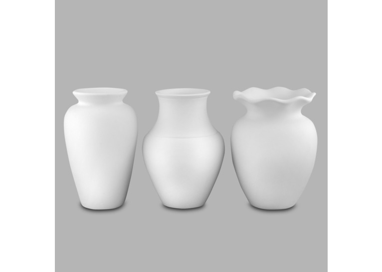 Asst Of 3 Vases:6c/s:6Tx4.5D