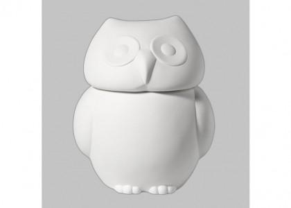 Owl Cookie Jar:3c/s:9.25x7.75