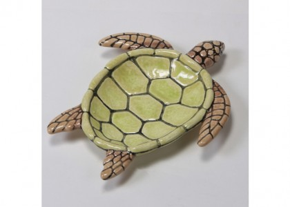Sea Turtle Dish by Mayco: 8.75 x 7.75 x 1.25H
