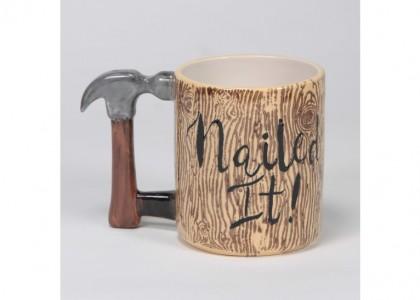 Handyman Mug (Hammer) by Mayco: 4.25 x 6 x 3.63D
