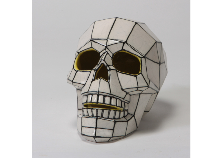 Faceted Skull by Mayco: 7.75 x 5 x 5.75H