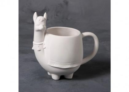 Llama Mug: 6 x 6.25 x 3.25D
